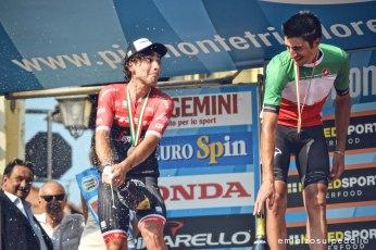 podio campionati italiani crono