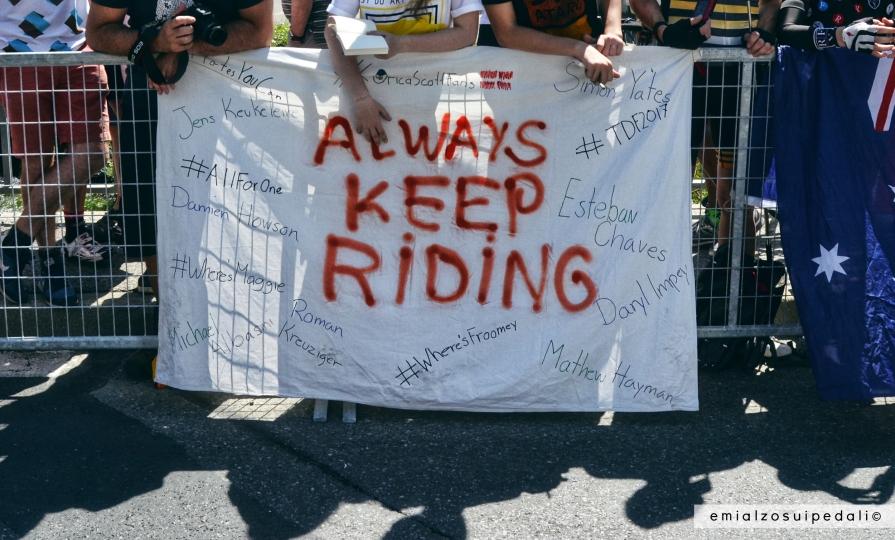 always keep riding tour de france
