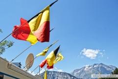 bandiere belghe alpe d'huez foto